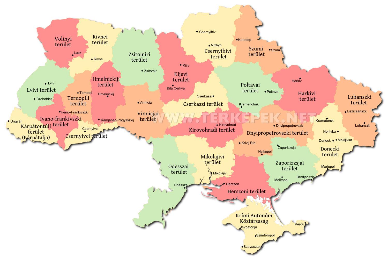 ukrajna térkép Ukrajna politikai térképe ukrajna térkép